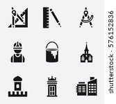 Architecture Icon. Set Of 9...