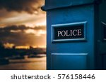 Blue Police Box In Westminster...