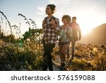 group of friends on country... | Shutterstock . vector #576159088