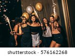 group of women celebrating with ... | Shutterstock . vector #576162268
