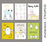 cute cards with hand drawn... | Shutterstock .eps vector #576169132