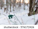 Plasticine Green Elephant Near...