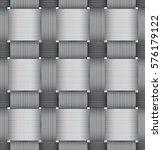 greyscale seamless basketwork... | Shutterstock . vector #576179122