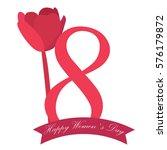 happy women day graphic design  ... | Shutterstock .eps vector #576179872