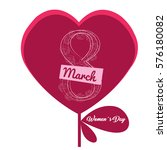 happy women day graphic design  ... | Shutterstock .eps vector #576180082
