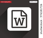 word file icon. button with...
