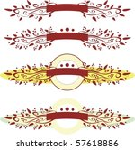 vector banners ribbon | Shutterstock .eps vector #57618886