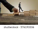 businessman in business suit... | Shutterstock . vector #576193336