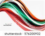 vector geometric flowing lines... | Shutterstock .eps vector #576200932