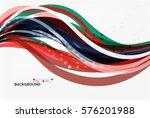 elegant colorful wave  stripes. ... | Shutterstock .eps vector #576201988
