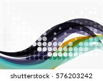 vector dotted wave template....