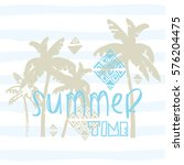 summer time subtitle with palm... | Shutterstock .eps vector #576204475