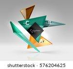 vector glass triangles...   Shutterstock .eps vector #576204625