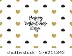 valentine greeting card with...   Shutterstock .eps vector #576211342