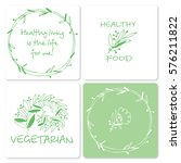 set of a vegetarian theme | Shutterstock .eps vector #576211822