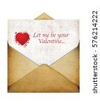 envelope letter for valentine... | Shutterstock . vector #576214222