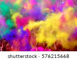 festival of colors greetings | Shutterstock . vector #576215668