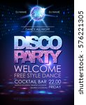 disco ball background. disco...   Shutterstock .eps vector #576221305
