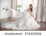 wedding. bride in beautiful... | Shutterstock . vector #576232906