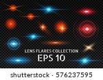 lens flare set. shining... | Shutterstock .eps vector #576237595