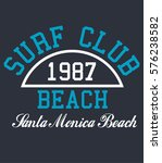 surf club typography  t shirt... | Shutterstock .eps vector #576238582