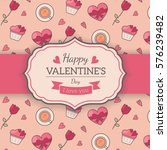 st. valentines card template.... | Shutterstock .eps vector #576239482