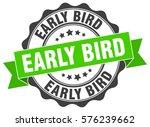 early bird. stamp. sticker.... | Shutterstock .eps vector #576239662