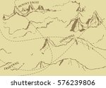 aged fantasy vintage pattern... | Shutterstock .eps vector #576239806
