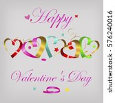 valentine's card with... | Shutterstock .eps vector #576240016