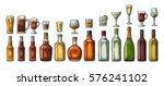 set glass and bottle beer ... | Shutterstock .eps vector #576241102
