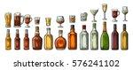 set glass and bottle beer ... | Shutterstock .eps vector #576241102