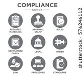 in compliance   icon set that... | Shutterstock .eps vector #576246112
