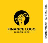 finance logo template. hold... | Shutterstock .eps vector #576253486