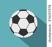 soccer ball icon. flat... | Shutterstock . vector #576257578