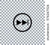 next button vector icon  on... | Shutterstock .eps vector #576267526