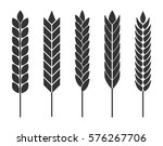 wheat ears. set of vector icons ... | Shutterstock .eps vector #576267706
