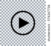 play button icon  on... | Shutterstock .eps vector #576267736