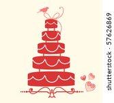wedding cake 2 | Shutterstock .eps vector #57626869