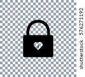lock icon  on transporent... | Shutterstock .eps vector #576271192