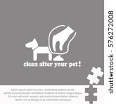 clean after pet  icon vector... | Shutterstock .eps vector #576272008