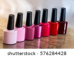 group of bright nail polishes... | Shutterstock . vector #576284428