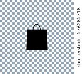 shopping bag   vector icon on... | Shutterstock .eps vector #576285718