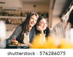 old friends meeting up after... | Shutterstock . vector #576286075