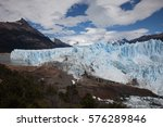 glacier in patagonia with walk... | Shutterstock . vector #576289846