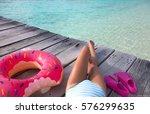 maldives tropical summer... | Shutterstock . vector #576299635