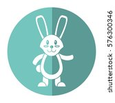 easter bunny cute standing... | Shutterstock .eps vector #576300346