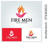 fire men logo design template.... | Shutterstock .eps vector #576303022