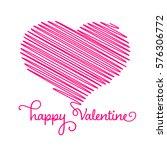 heart   pencil scribble sketch... | Shutterstock .eps vector #576306772