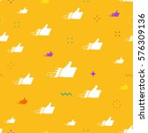seamless pattern made of flat... | Shutterstock .eps vector #576309136