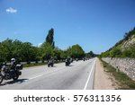 motorcycles and scooters in the ... | Shutterstock . vector #576311356